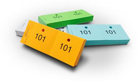 Gardarobenzettel Doppelnummern