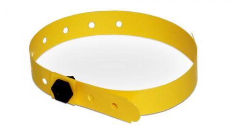Party-Armbänder / Kontrollarmbänder IDENT schmal gelb