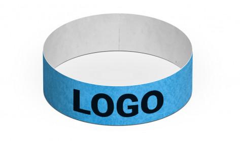 Party-Armbänder / Kontrollarmbänder TYSTAR blau individuell bedruckt