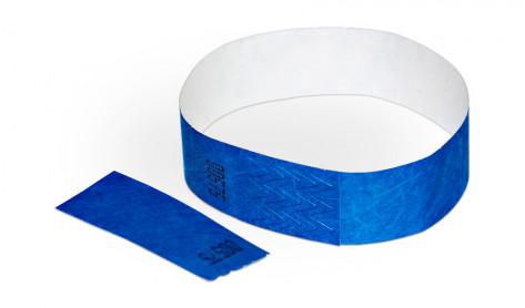 Party-Armbänder / Kontrollarmbänder TYSTAR mit Doppelnummer Abriss blau