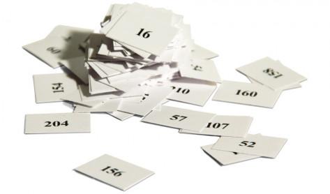 Ziehnummern / Ziehzettel Tombolaverlosung Auslosung der Tombolatreffer