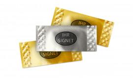 kleine Brieflose in Gold oder Silber mit individuellem Aufdruck