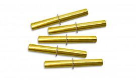 Die goldenen Röllchenlose - Tombolalose gerollt und geheftet
