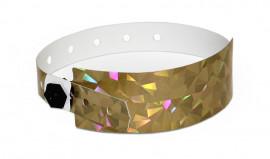 Party-Armbänder / Kontrollarmbänder IDENT Exklusiv breit gold