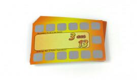 Rubbelkarte - 3 aus 13 - Rubbelkarte mit 13 Rubbelfelder zum aufrubbeln