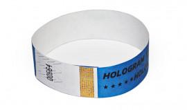 Party-Armbänder / Kontrollarmbänder TYSTAR mit Hologramm Schutz blau