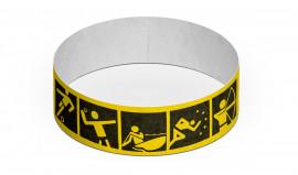 Party-Armbänder / Kontrollarmbänder TYSTAR - SPORT Neon-Gelb