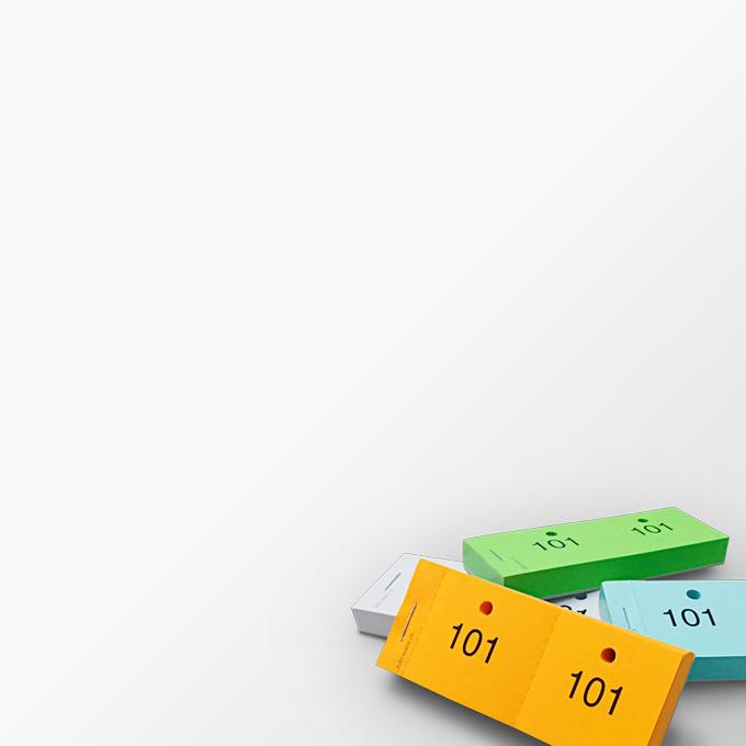 Garderobenzettel / Doppelnummern