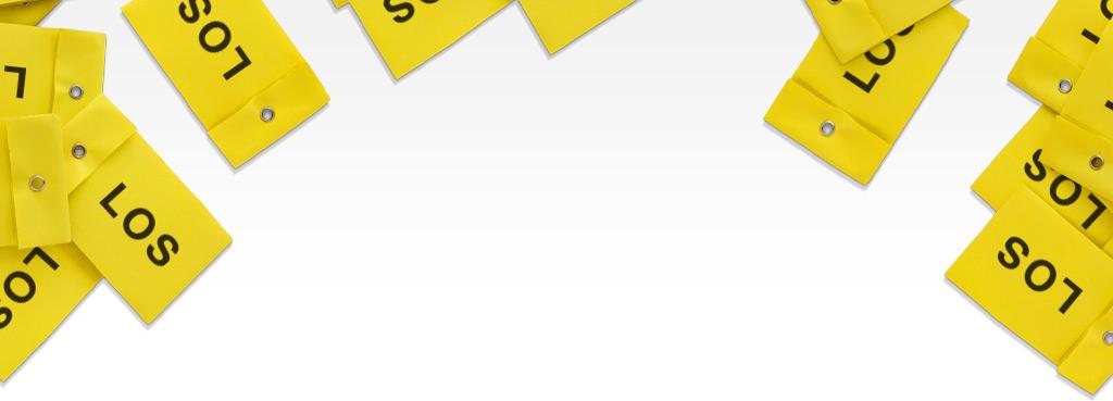 Individuelle Gestaltung von Tombolalosen - diverse gelbe Tombolalose